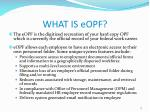 what is eopf