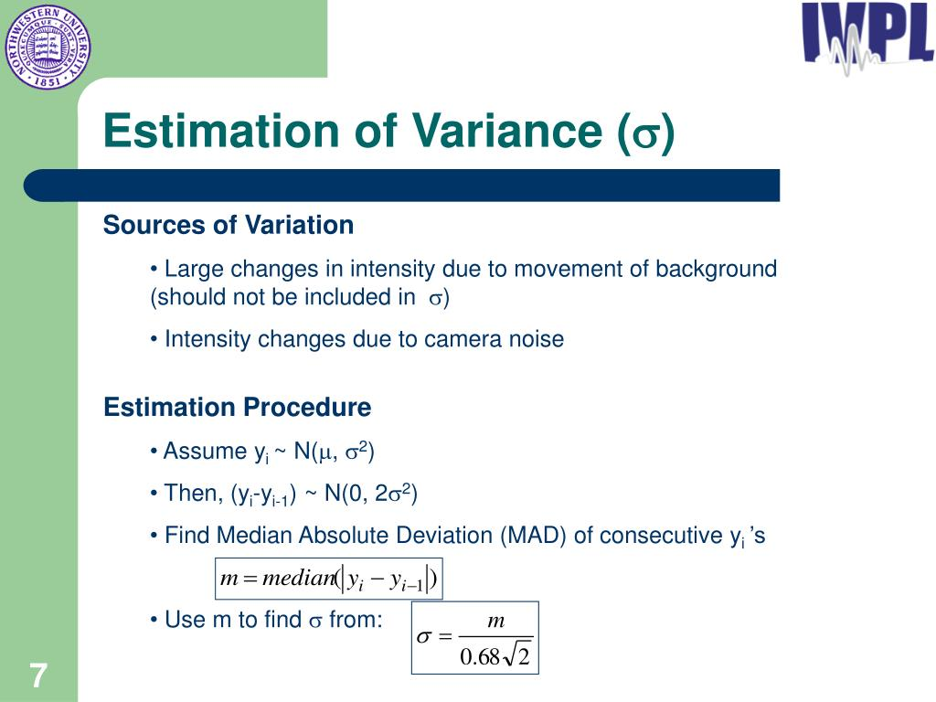 Estimation of Variance (