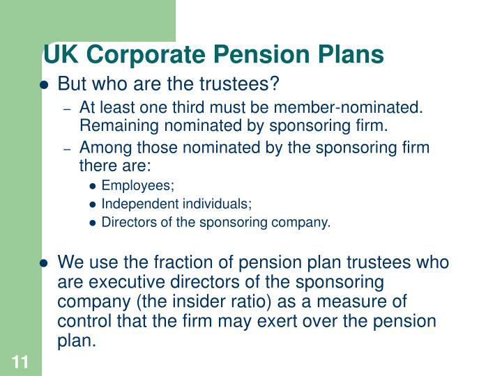 UK Corporate Pension Plans