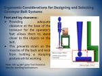 ergonomic considerations for designing and selecting conveyor belt systems14