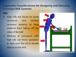 ergonomic considerations for designing and selecting conveyor belt systems16