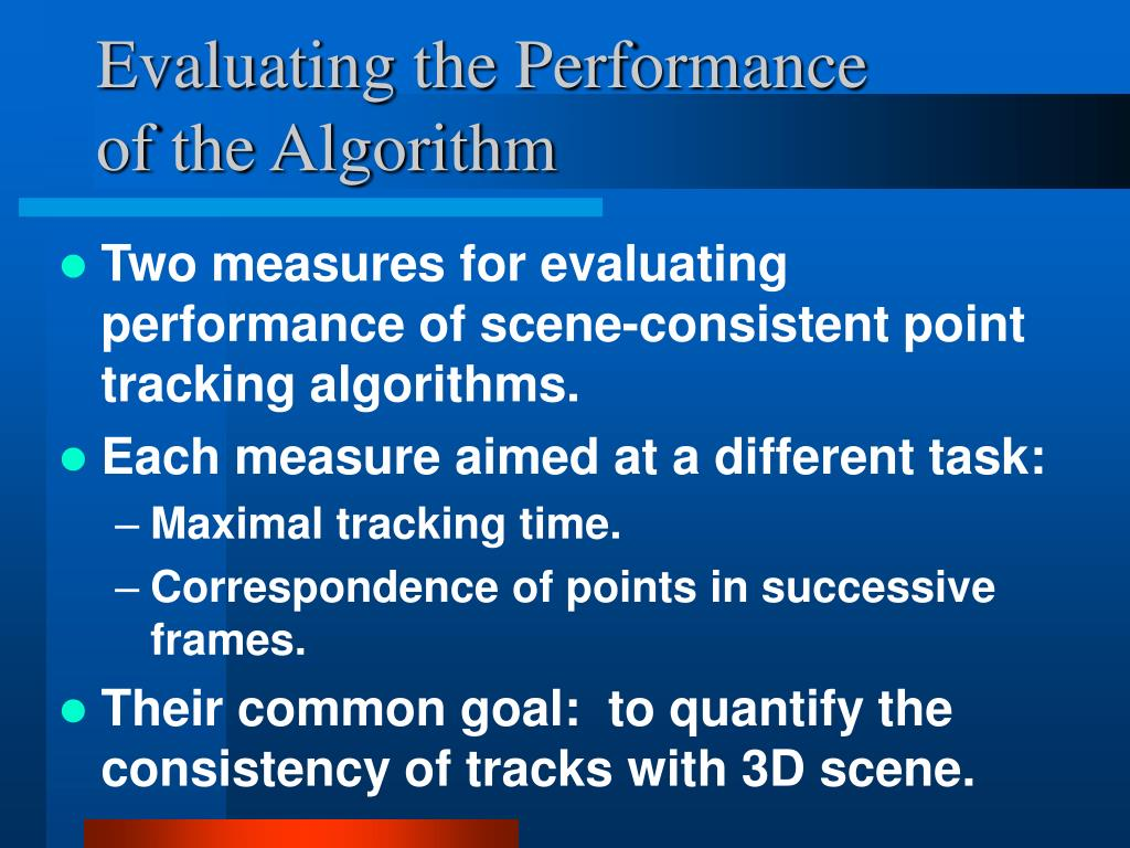 Evaluating the Performance of the Algorithm
