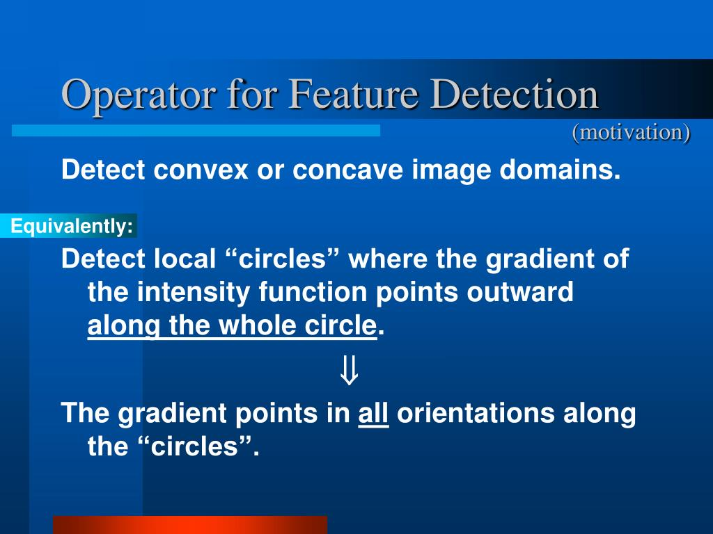 Operator for Feature Detection