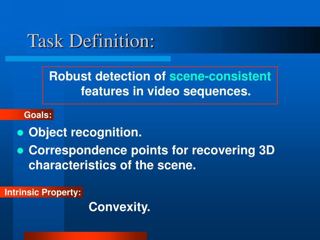 Task Definition: