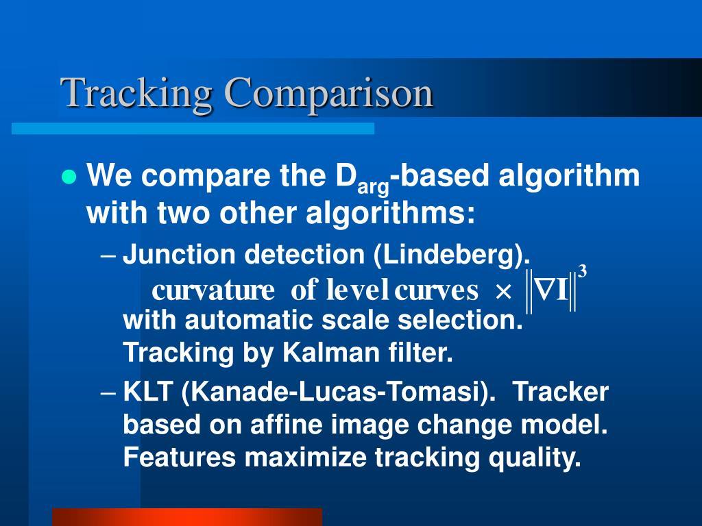 Tracking Comparison