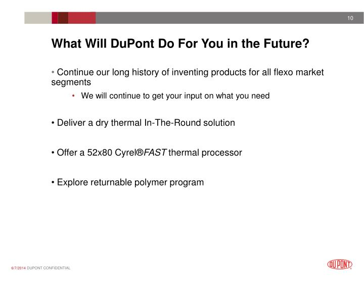 What Will DuPont Do For You in the Future?