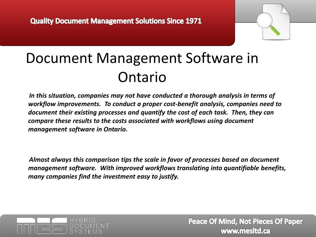 Document Management Software in Ontario