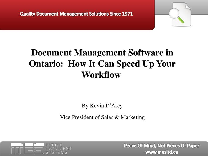 Document Management Software in Ontario:  How It Can Speed Up Your Workflow