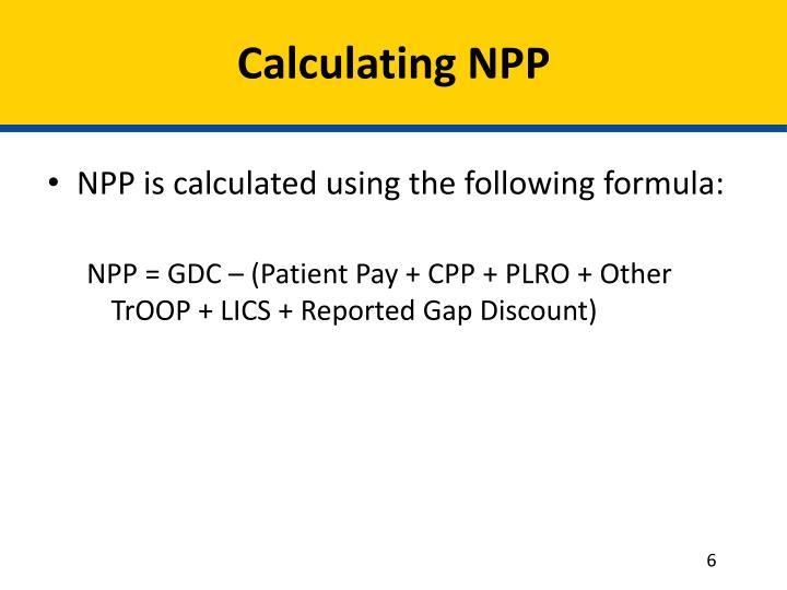 Calculating NPP