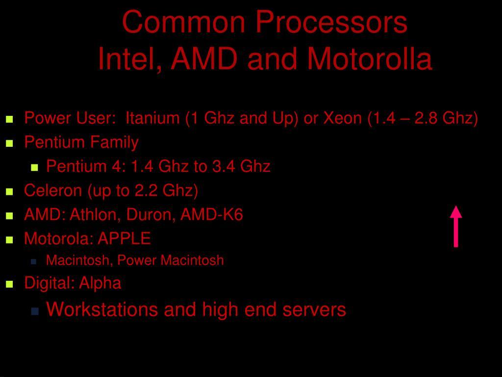 Common Processors
