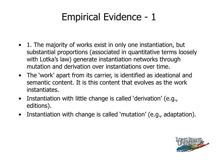 Empirical Evidence - 1