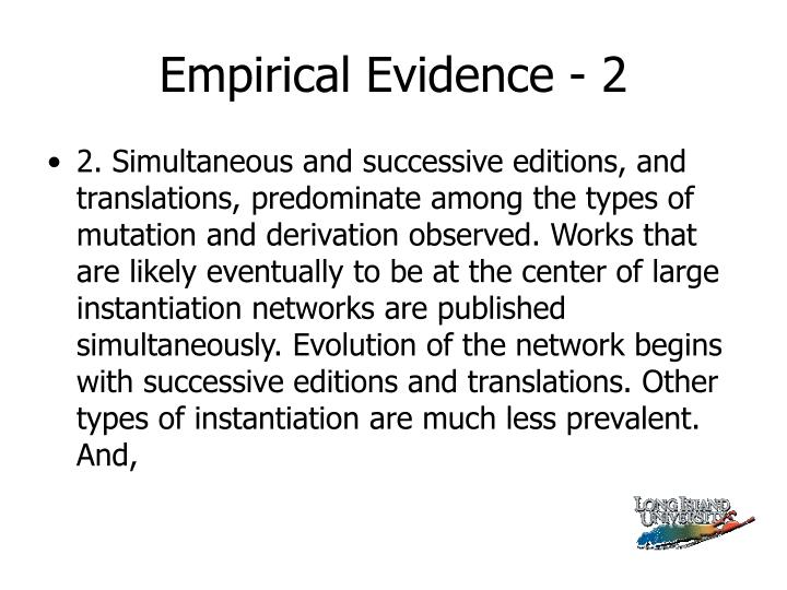 Empirical Evidence - 2