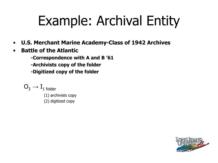 Example: Archival Entity