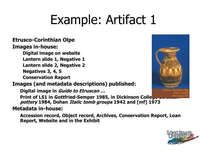 Example: Artifact 1