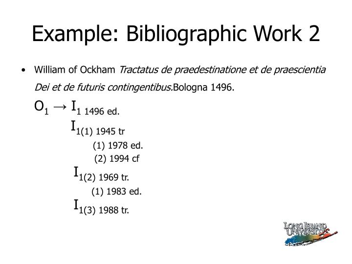 Example: Bibliographic Work 2
