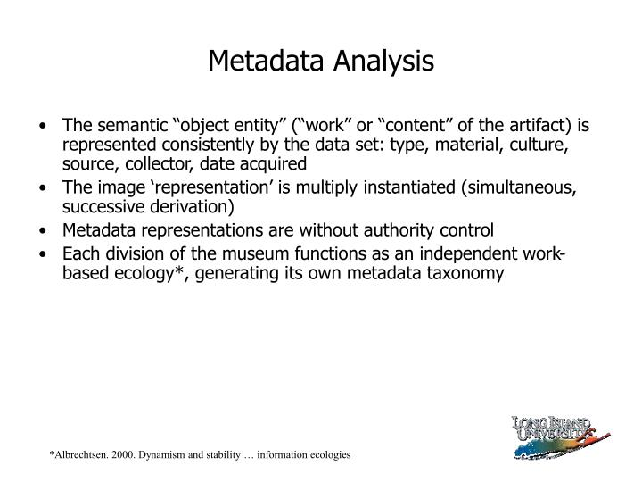 Metadata Analysis