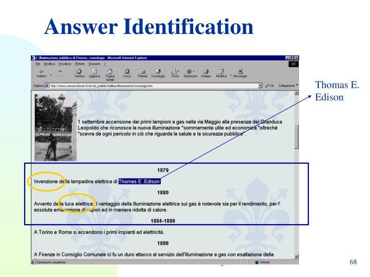 Answer Identification