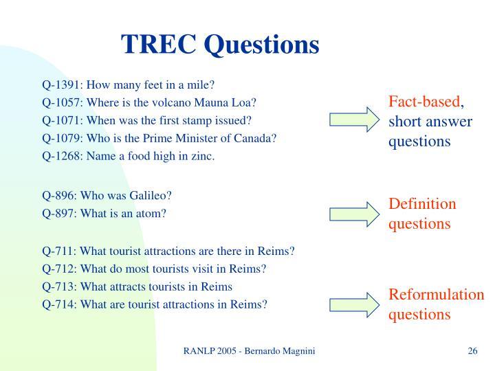 TREC Questions