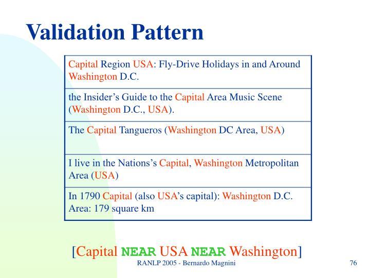Validation Pattern