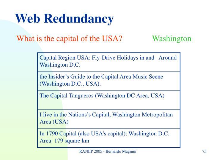 Web Redundancy