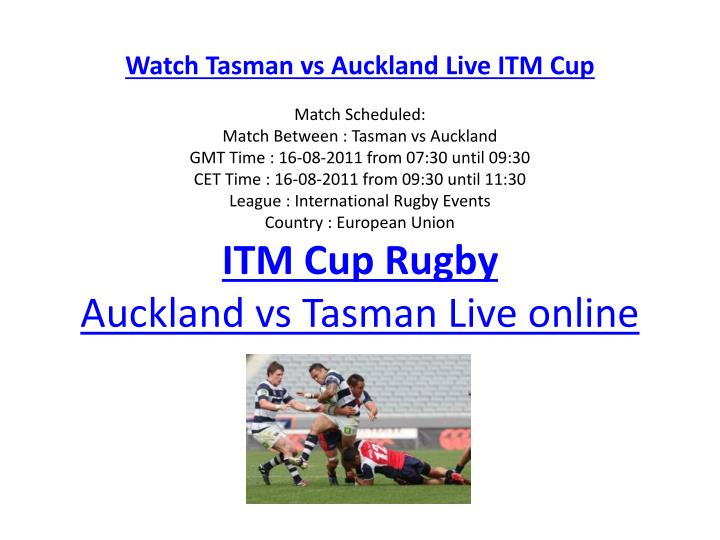 Watch Tasman