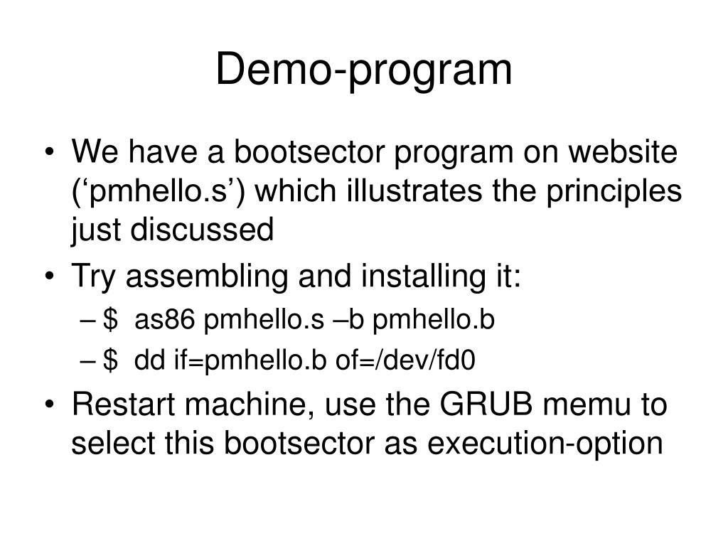 Demo-program