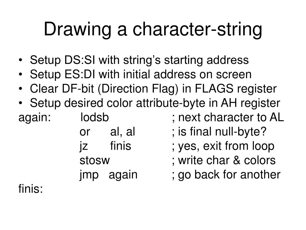 Drawing a character-string