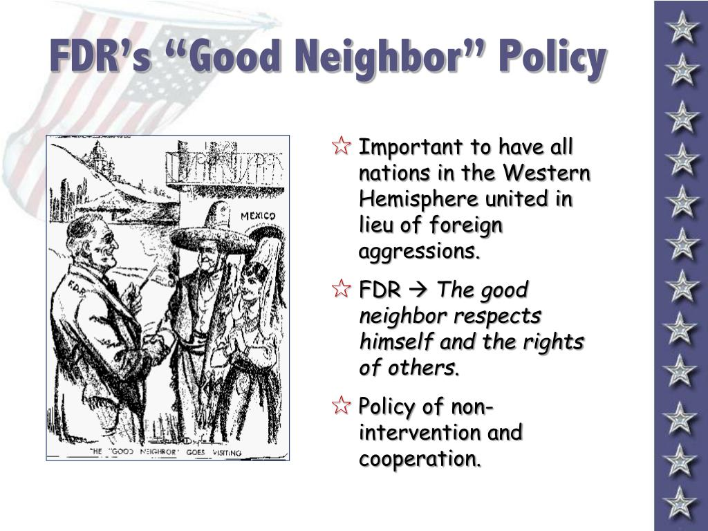 "FDR's ""Good Neighbor"" Policy"