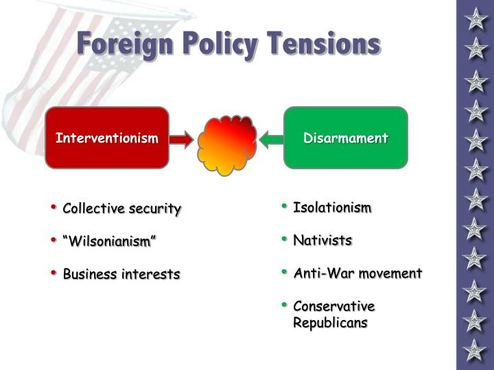 Foreign policy tensions l.jpg