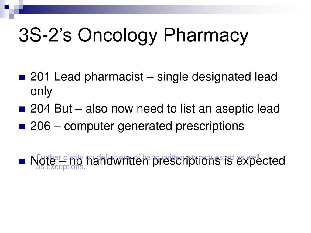 3S-2's Oncology Pharmacy