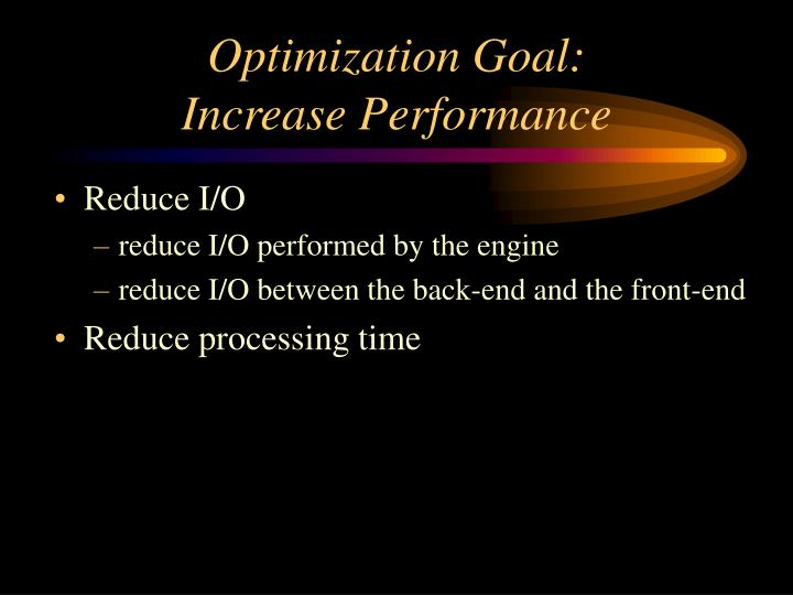 Optimization Goal: