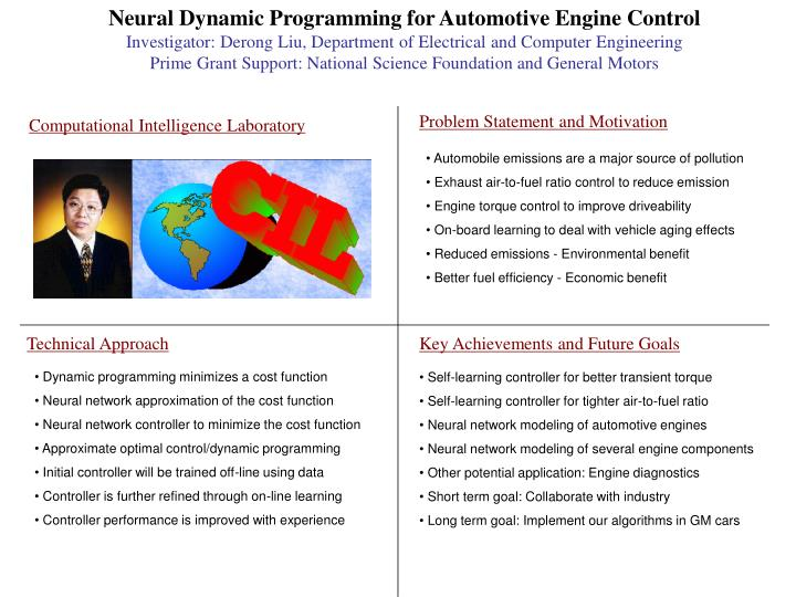 Neural Dynamic Programming for Automotive Engine Control