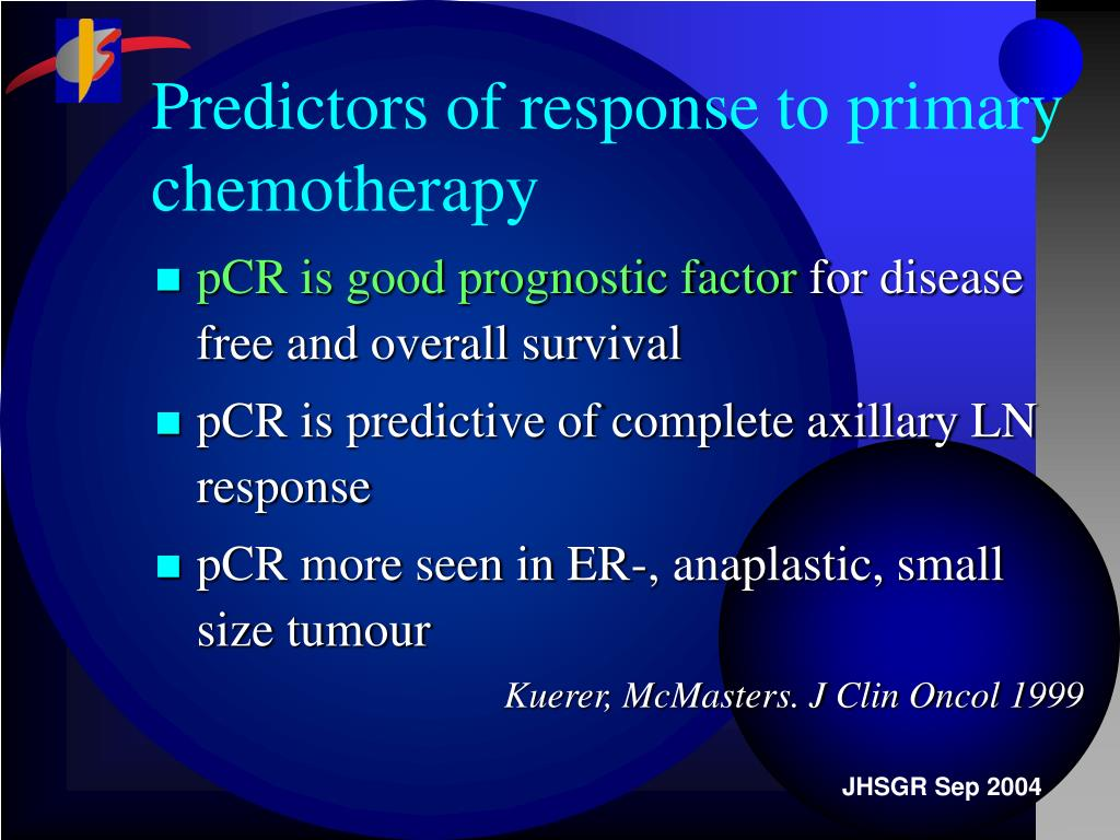 Predictors of response to primary chemotherapy