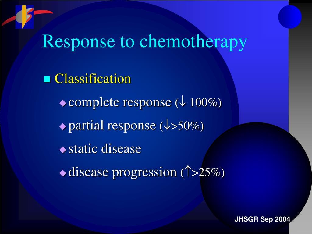 Response to chemotherapy
