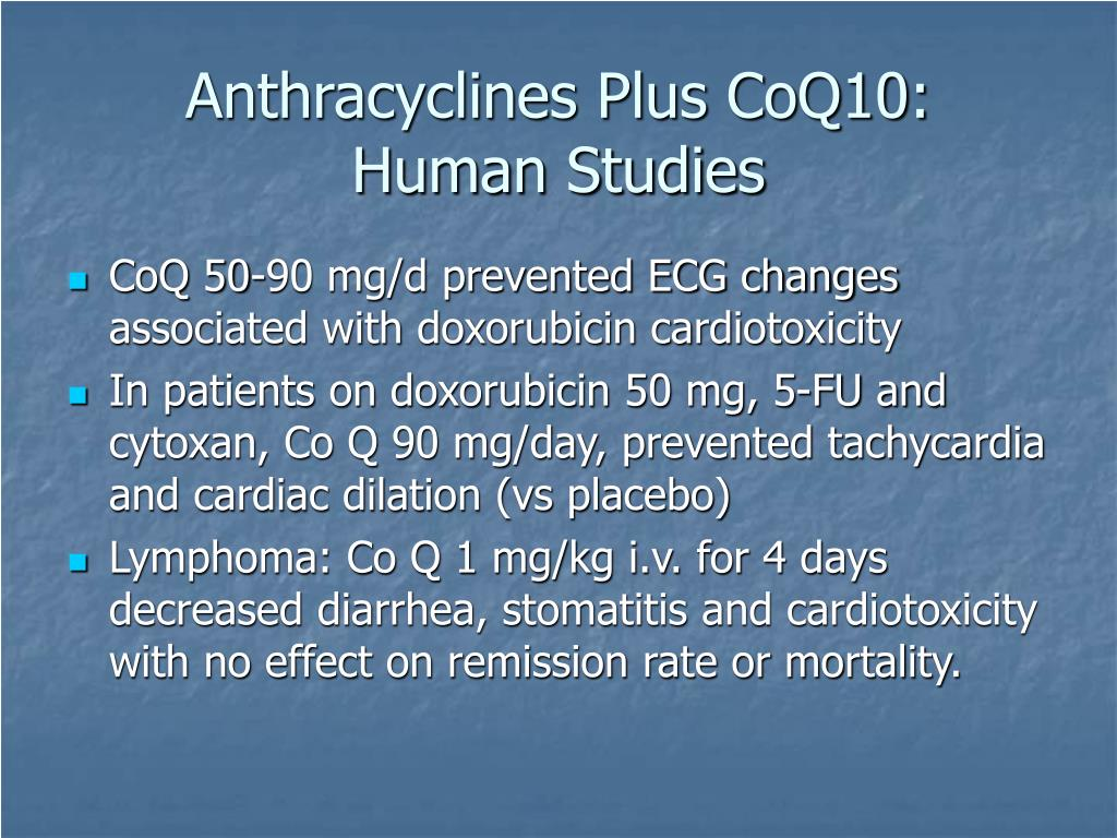 Anthracyclines Plus CoQ10: