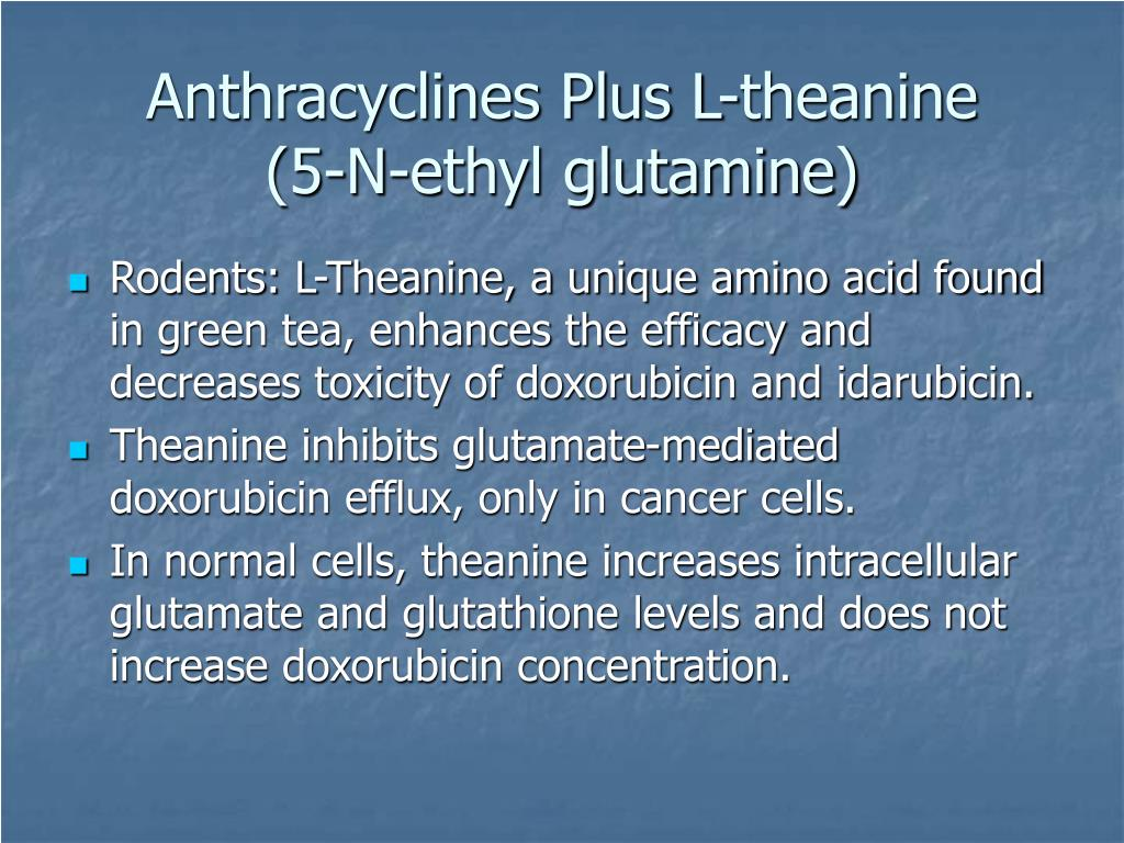 Anthracyclines Plus L-theanine