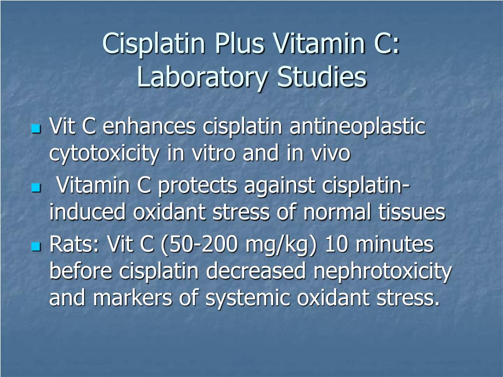 Cisplatin Plus Vitamin C: