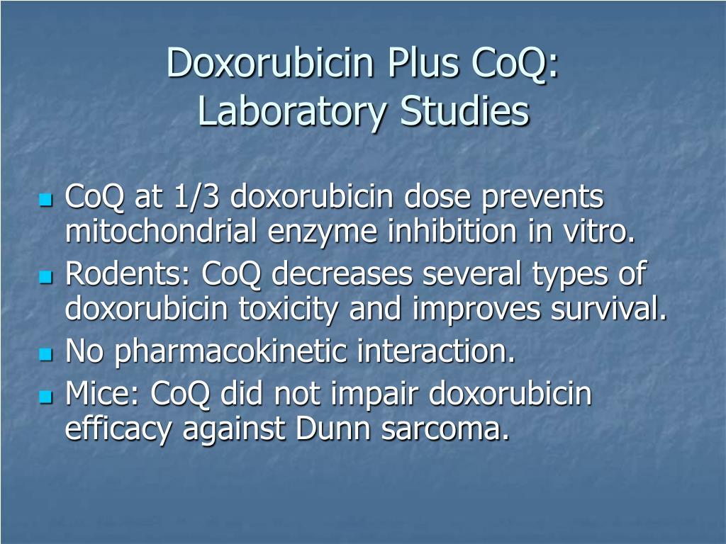 Doxorubicin Plus CoQ: