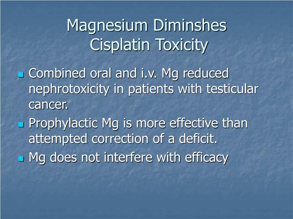 Magnesium Diminshes