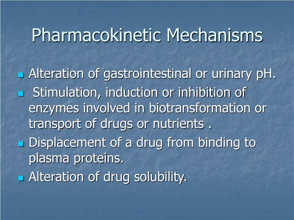 Pharmacokinetic Mechanisms