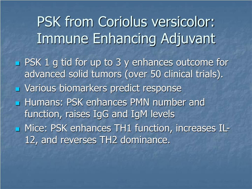 PSK from Coriolus versicolor: