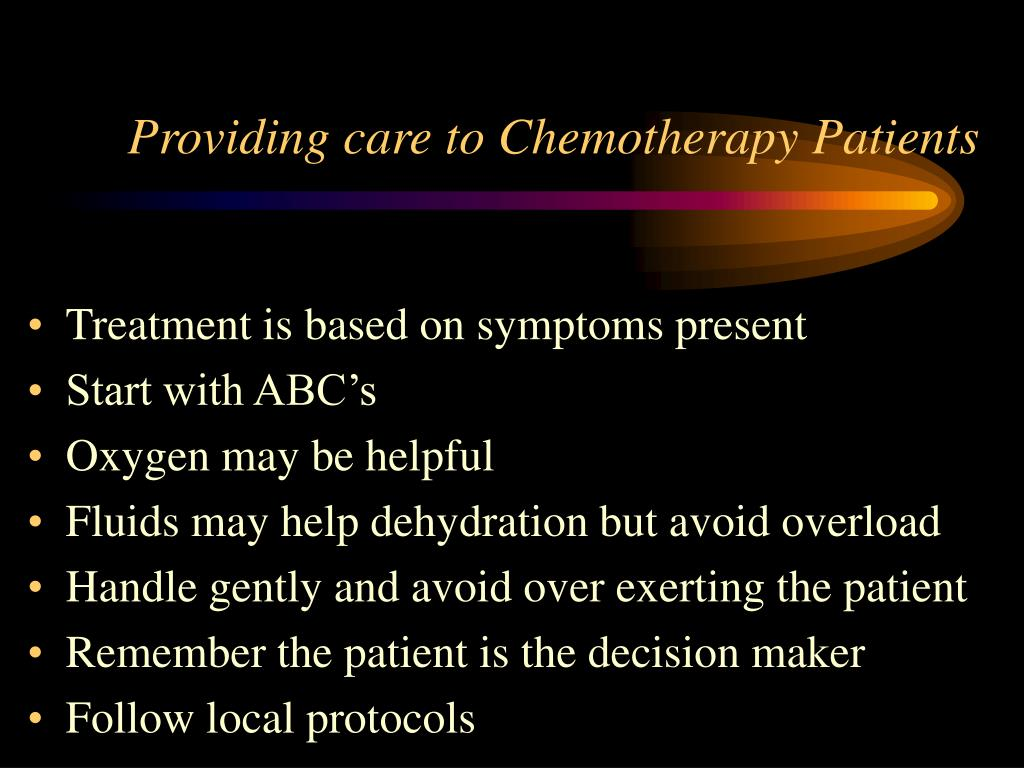 Providing care to Chemotherapy Patients