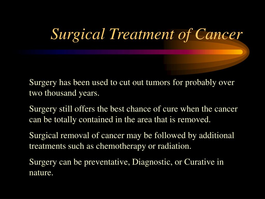 Surgical Treatment of Cancer
