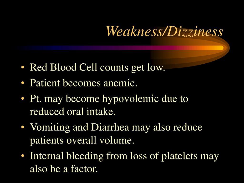 Weakness/Dizziness