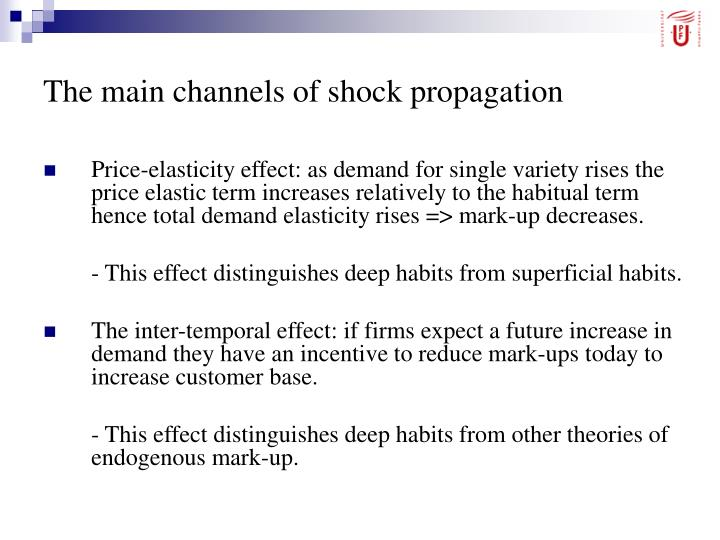 The main channels of shock propagation