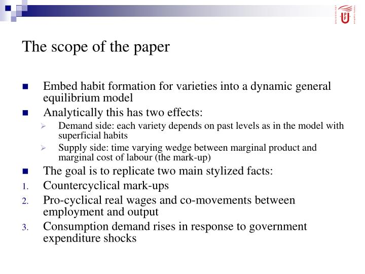 The scope of the paper