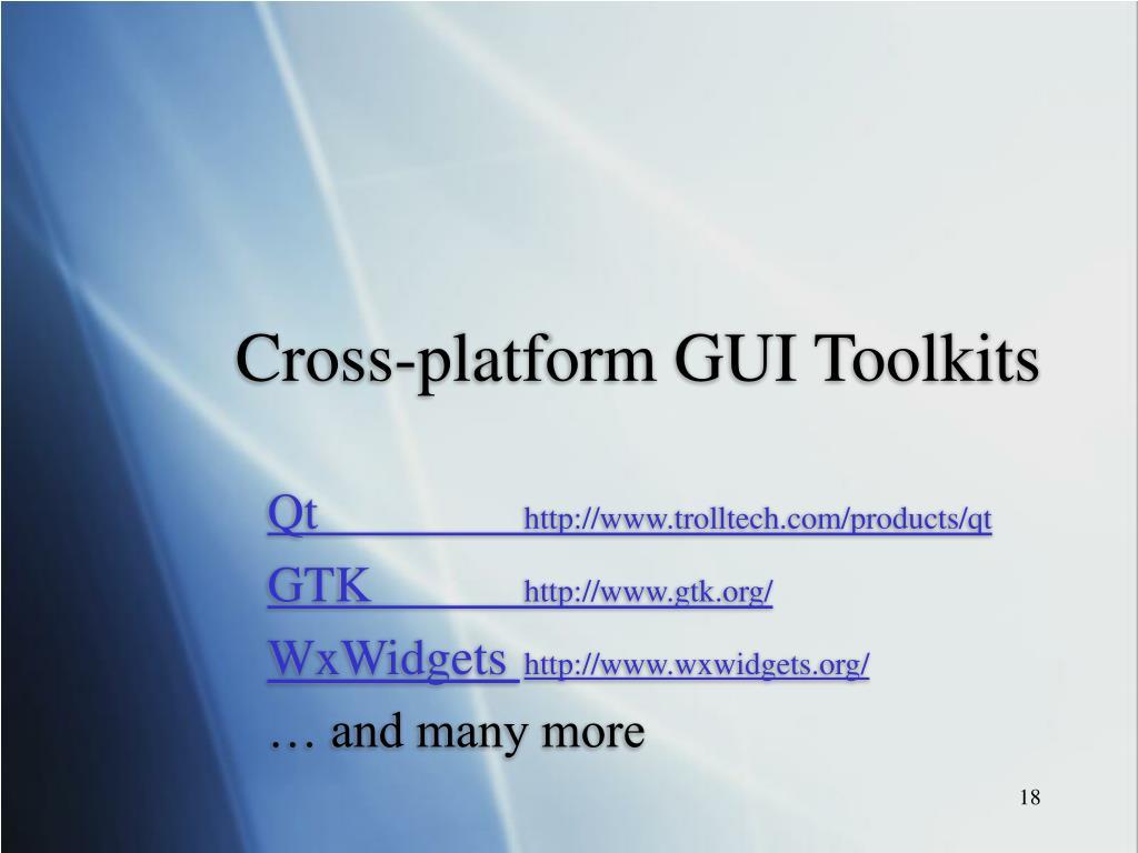 Cross-platform GUI Toolkits