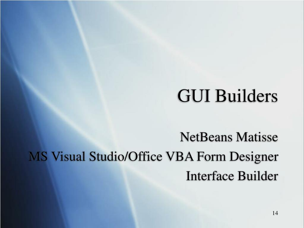 GUI Builders