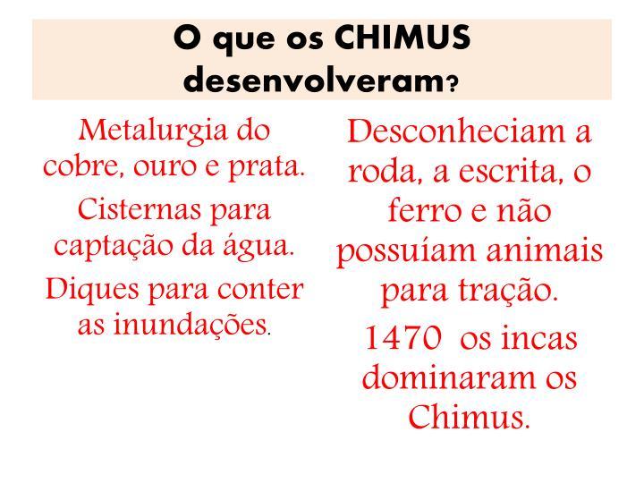 O que os CHIMUS desenvolveram?