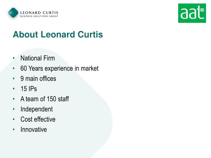 About leonard curtis
